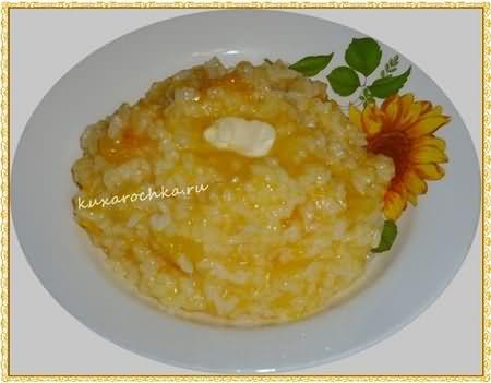 Каша рисовая с тыквой