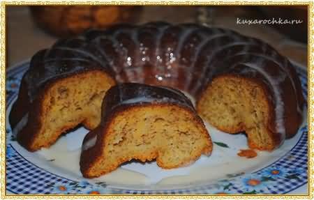 Тыквенно-банановый кекс