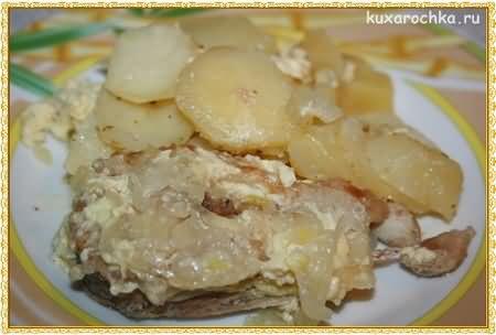 Щука запеченная с картофелем