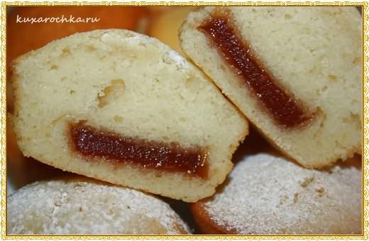 Кексы на кефире с мармеладом