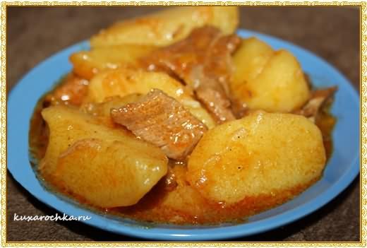 Тушеная говядина с картофелем по-итальянски