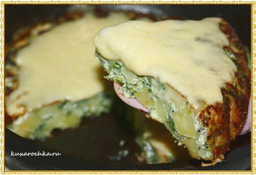 Испанская тортилья со шпинатом