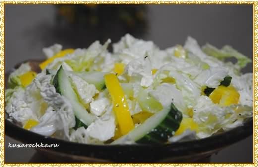 Салат овощной с пекинской капустой