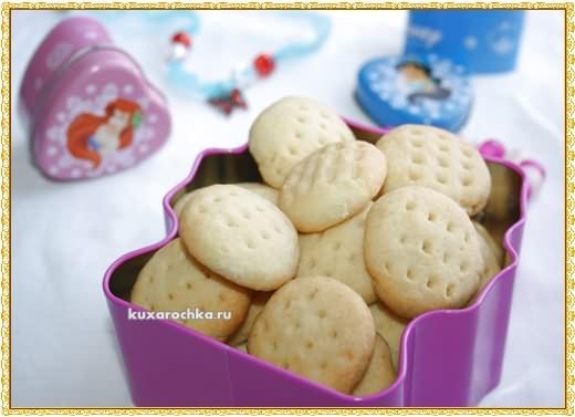 Песочное печенье с манной крупой