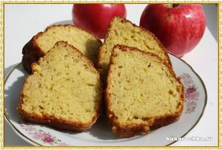 Кекс яблочный