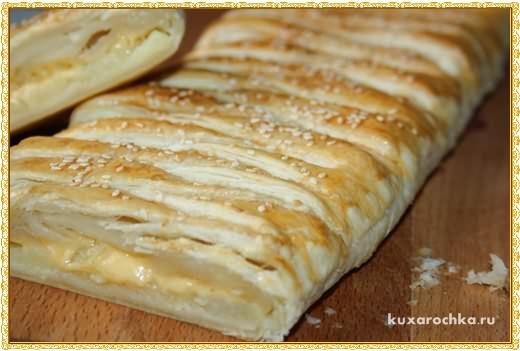 Плетенка с картофелем и сыром