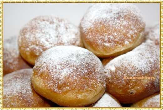 Творожные пончики с курагой
