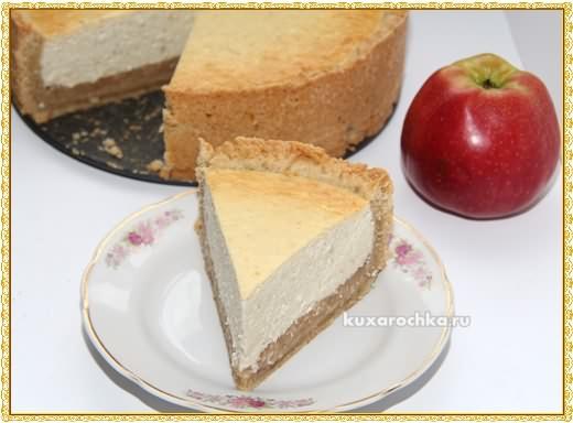 Бананово-творожный торт с яблочной прослойкой