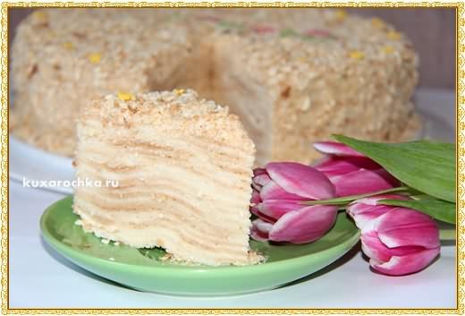 """Торт """"Наполеон"""" с лимонным кремом"""