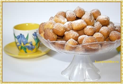 Творожные пончики с кукурузной мукой