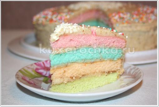 """Торт """"Радужный"""""""