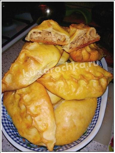 Пирожки с капустой из кефирного теста