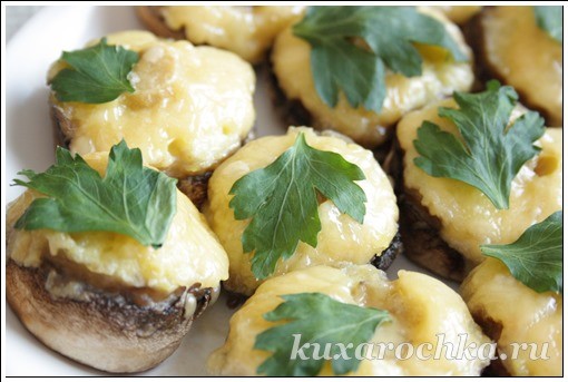 Шампиньоны запеченные с картофелем
