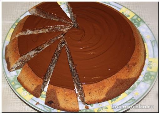 Мраморный кекс с орехами